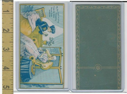 Victorian-Card-1890-039-s-Elliptic-Needles-Two-Ladies-Sewing