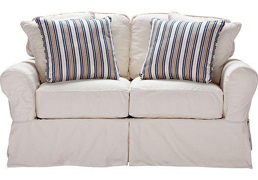 Cindy Crawford Home Beachside Natural Denim Loveseat Love Seat Cindy Crawford Home Affordable Furniture Stores