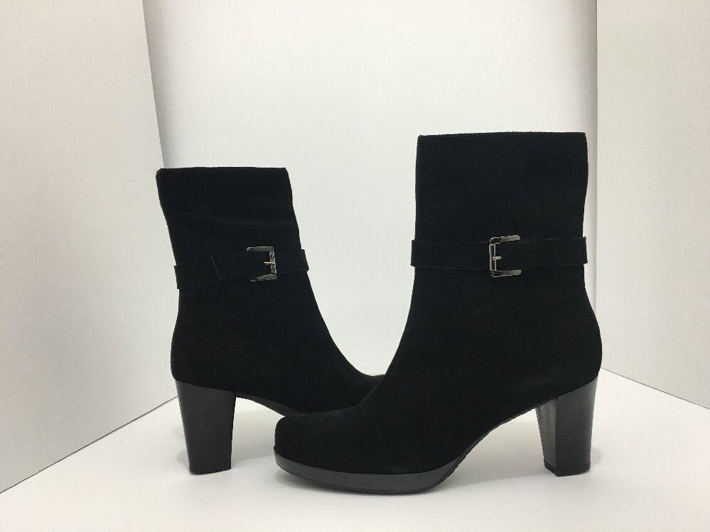 La Canadienne Kian Black Suede Women's Short Boots High Heel