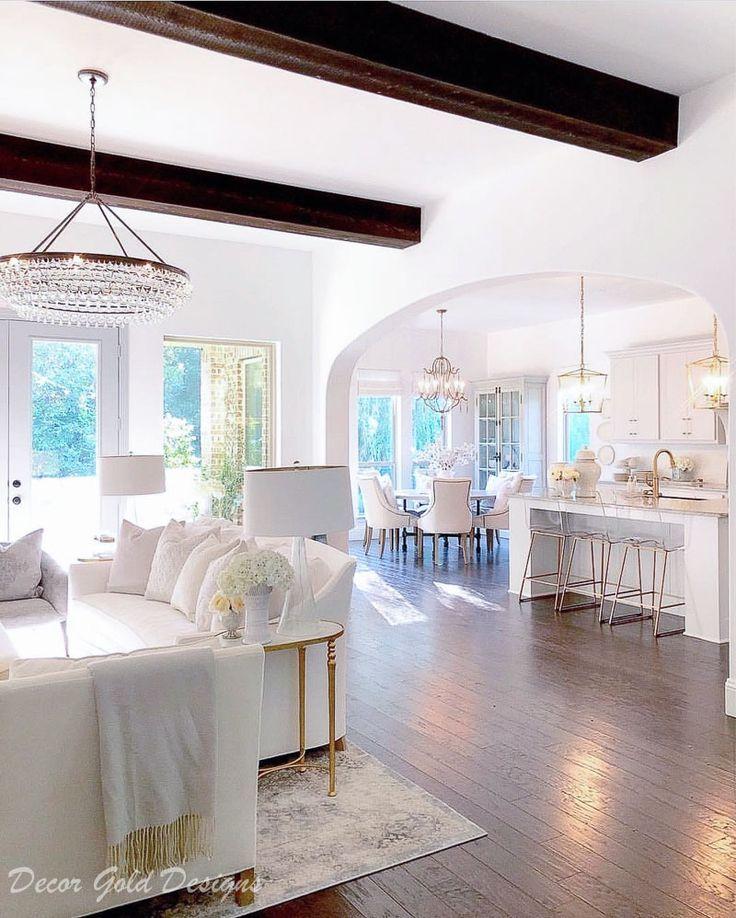 Top 10 Instagram Posts Of 2018 Decor Gold Designs Open Concept Living Room Open Concept Kitchen Living Room Open Living Room Concept all white living room