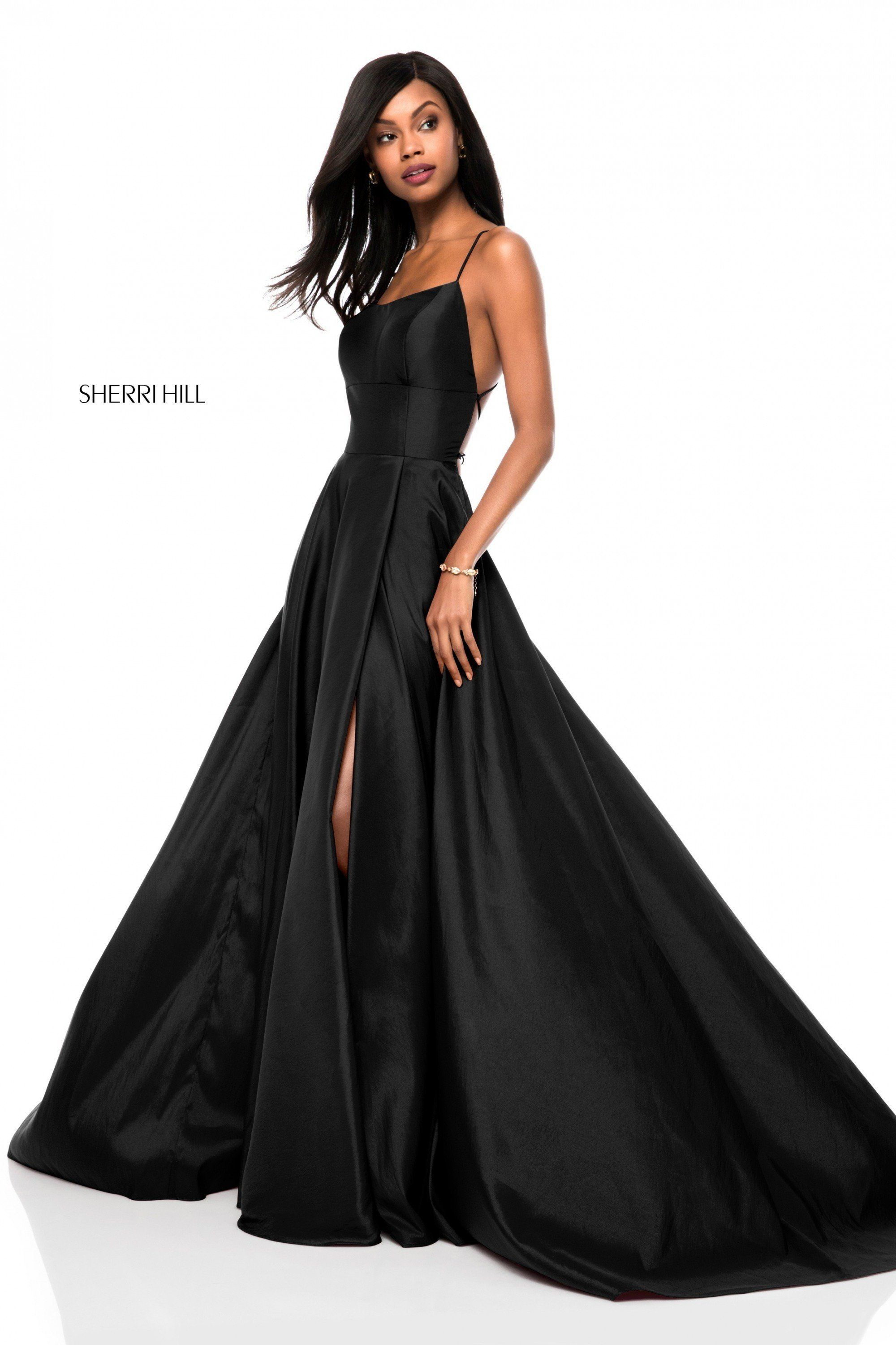 b51dbe06501 Sherri Hill 52022 Lace Up Back Taffeta Gown in 2019