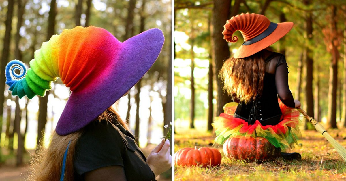 Felt Witch Hats That I Make From Wool #feltcreations