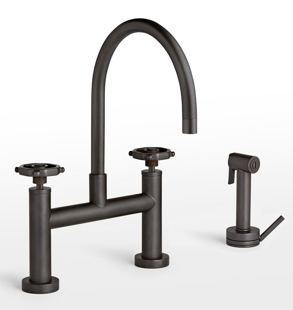 Tolson Kitchen Faucet With Sprayer  Kitchen Faucets Faucet And Impressive Oil Rubbed Bronze Kitchen Hardware Decorating Design