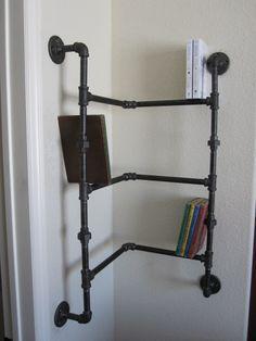 corner pipe shelves - Google Search