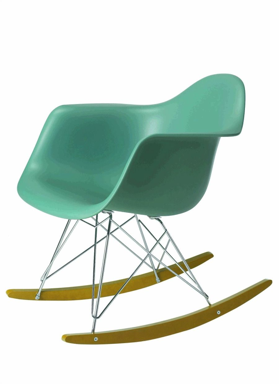 Remarkable green rocking-chair with creative wire frame | Furniture ...