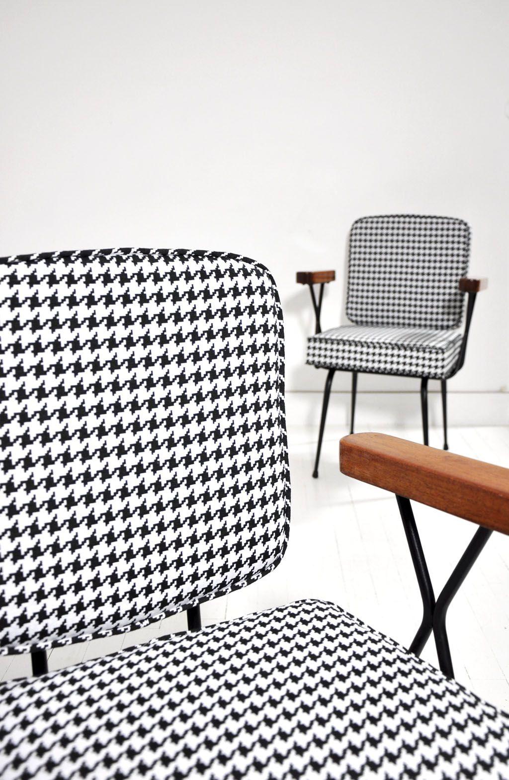 fauteuil mtal tubulaire annes 50 pied de coq pied de poule mobilier vintage bel ordinaire