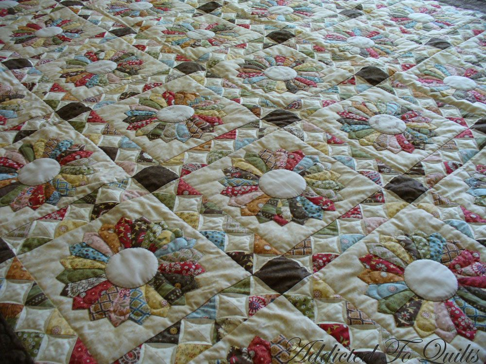 Quilt Sashing Ideas Addicted To Quilts: Dresden Plate quilt patterns & quilty stuff ...