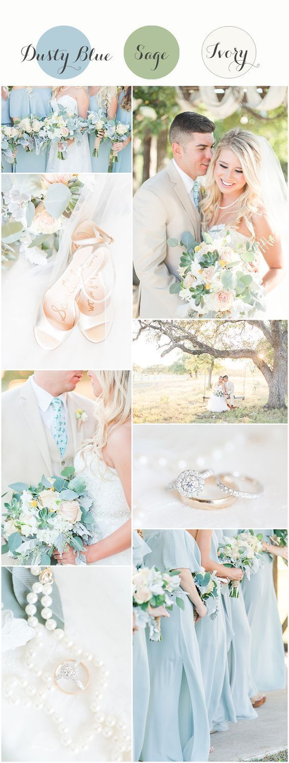 Dusty Blue Wedding Colors Dusty Blue And Sage Wedding