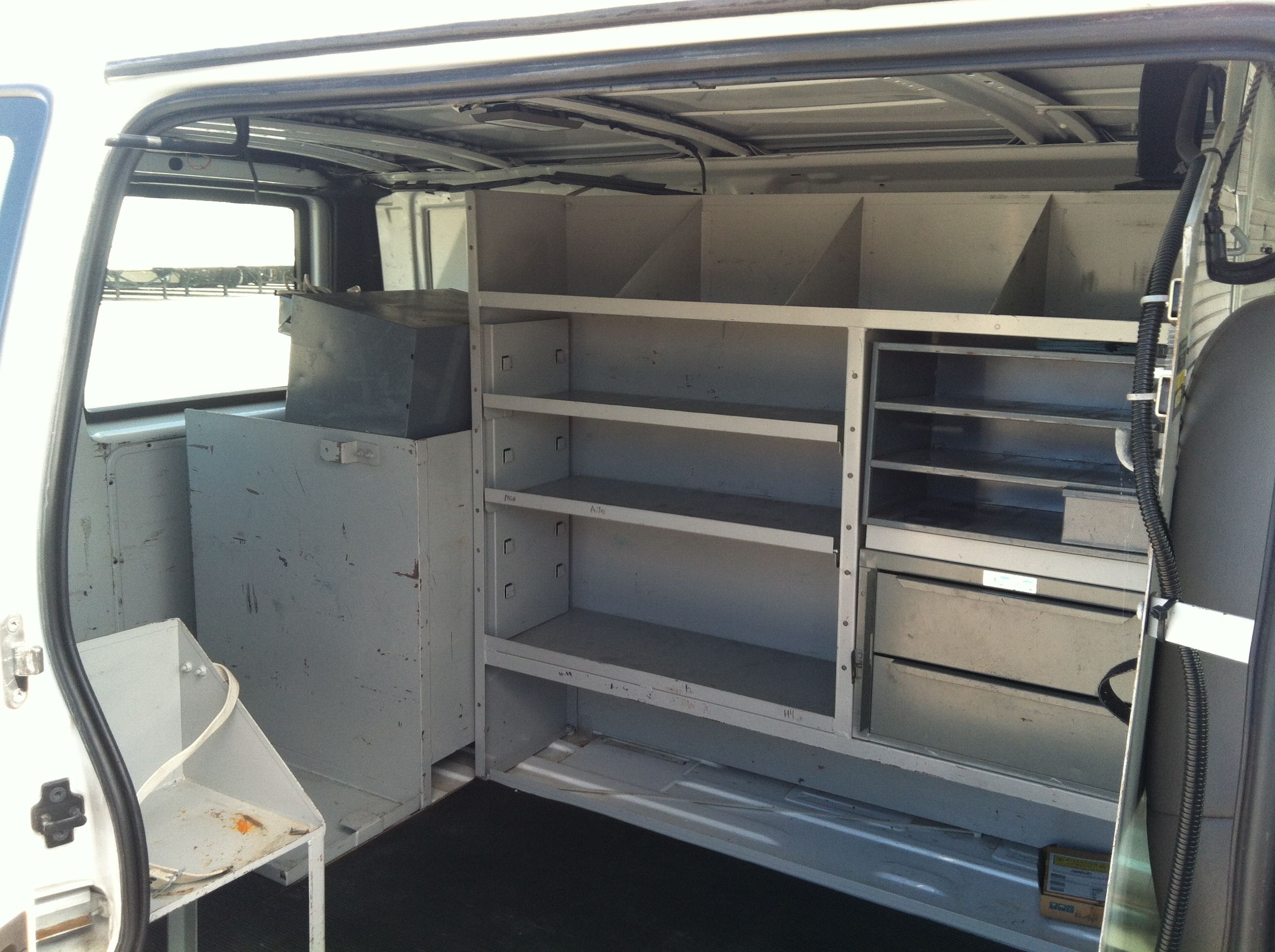 The Aluminum Shelves Will Hold Alot Of Stuff Here Living In A