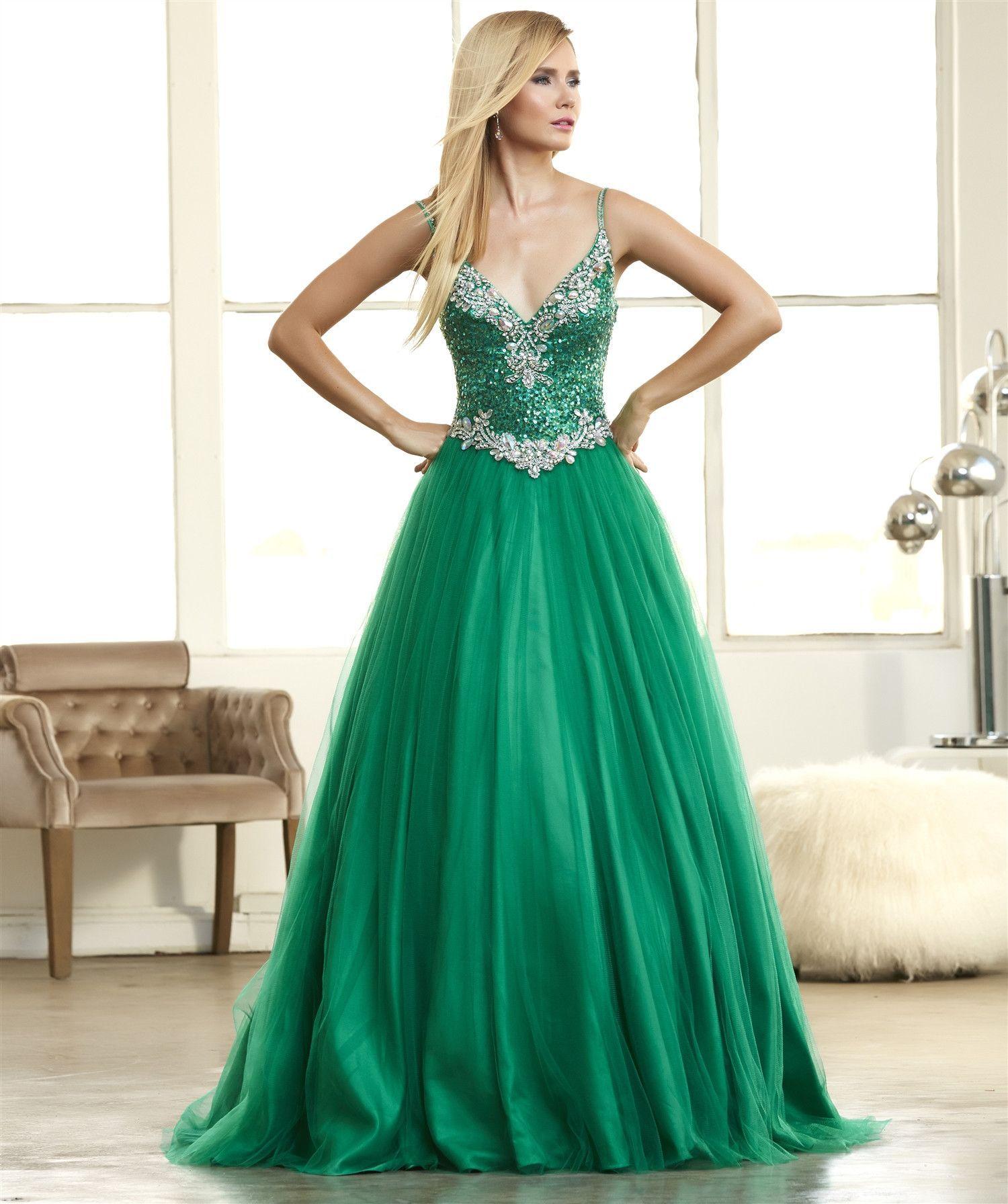 emerald green long formal dress usa