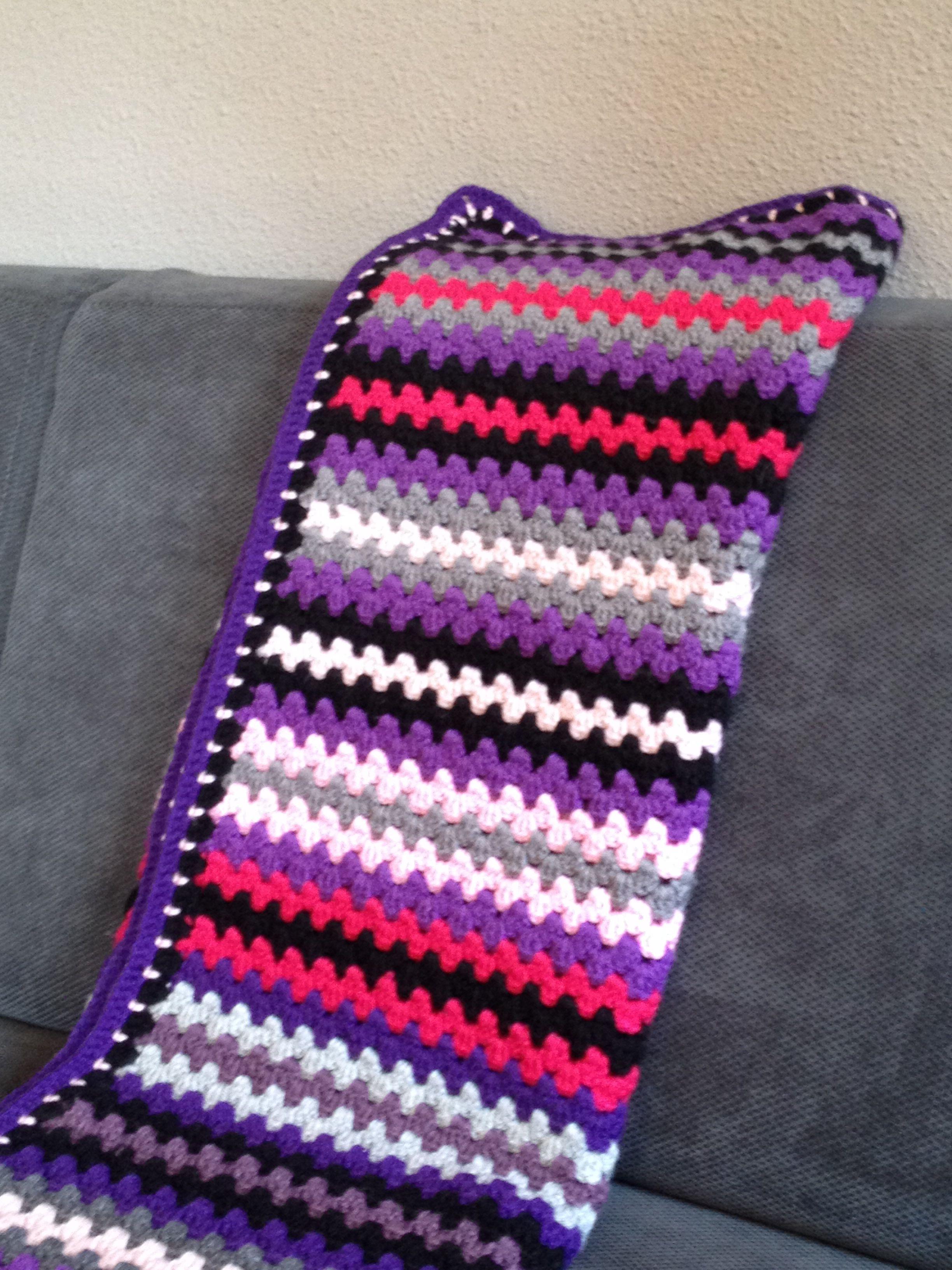 Granny Stripe Blanket Pattern Cool Decoration