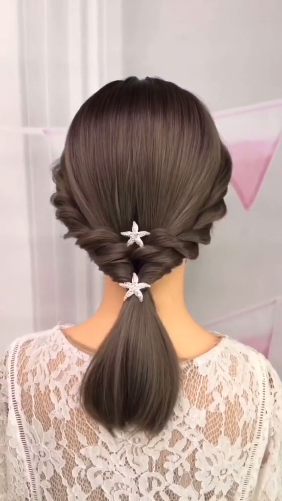 Braided Hairstyles For Long Hair Step By Step Tutorial Video Simple Easy In 2020 Braids For Long Hair Hair Videos Tutorials Short Hair Tutorial