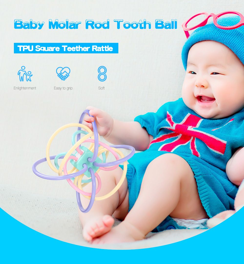 Birthday toys images  Baby Teether Rattle Activity Toys Baby Molars Sensory Toys for Baby