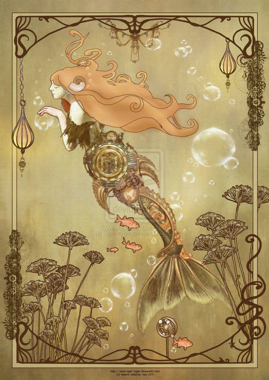 Steampunk Art Nouveau Mermaid Nouveauby