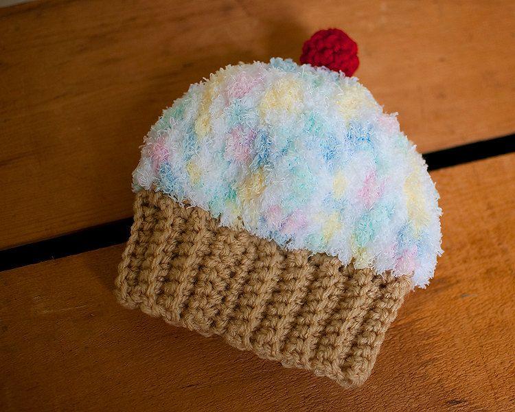 crochet baby hat cupcake beanie | Crochet baby hats ...