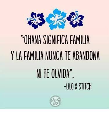 Resultado De Imagen Para Lilo Y Stitch Ohana Significa Familia