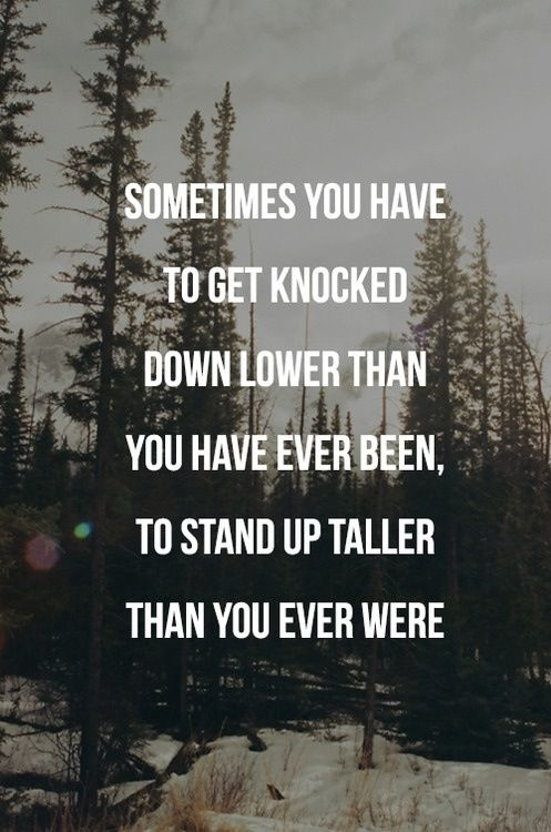 When life knocks you down, get back up. Quotes