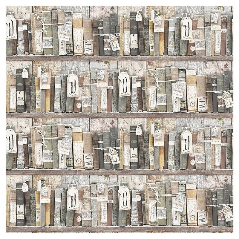 Find Superfresco Easy Paste the Wall Vintage Bookcase