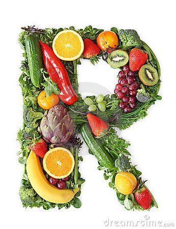 Alfabeto De La Fruta Y Verdura Ser Saudavel Nutricao Alimentar