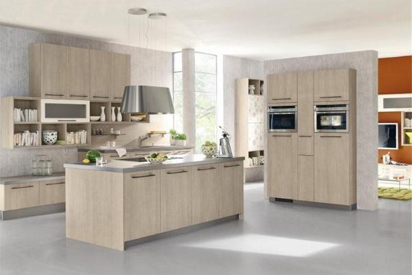 Cuisine design imitation ch ne platine par l 39 artisan cuisines leclercq cuisine ch ne design - Cuisine platine but ...