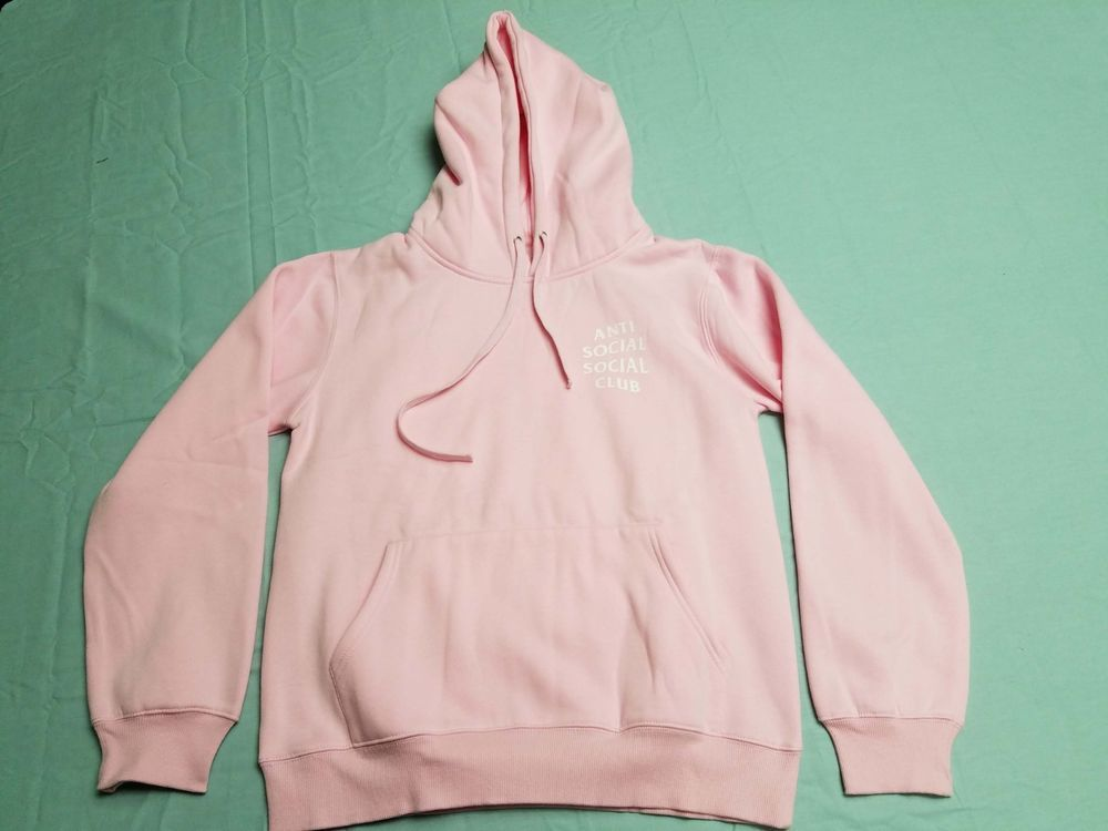 f6b124228185 Anti Social Social Club Know You Better Hoodie Hooded Sweater Light Pink  ASSC M  fashion  clothing  shoes  accessories  unisexclothingshoesaccs ...
