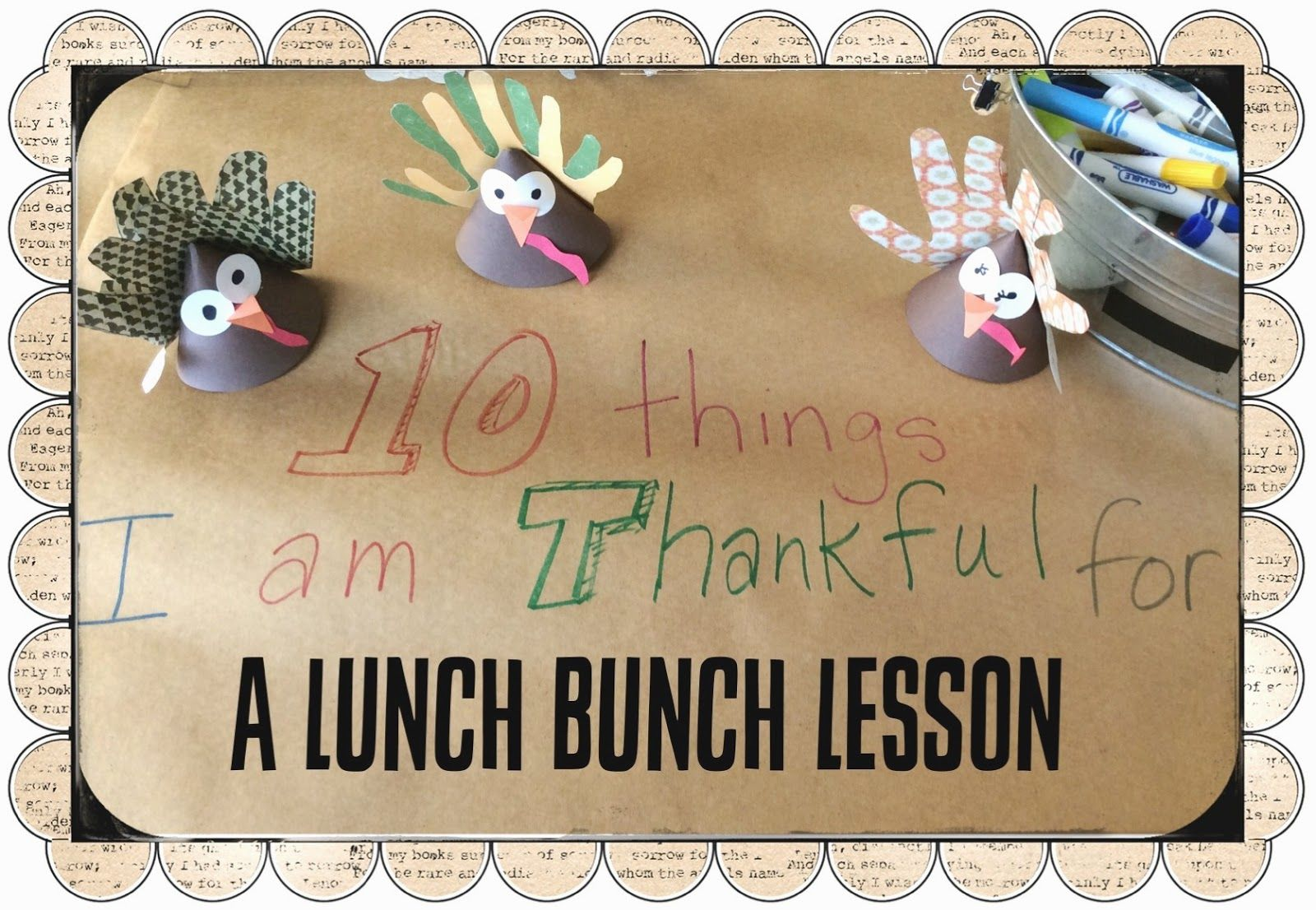 10 Things I Am Thankful For Lunch Bunch Lesson