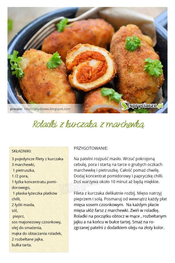 Przepis na roladki z kurczaka z marchewką