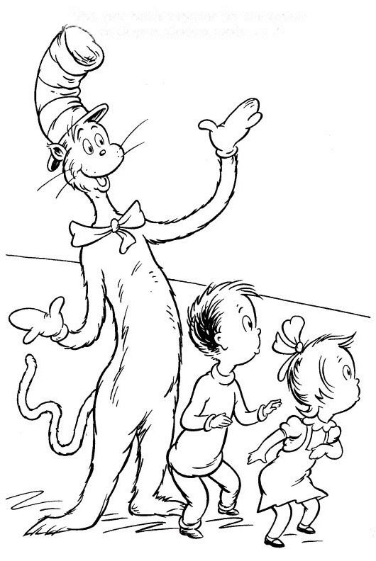 coloring page cat in the hat cat in the hat