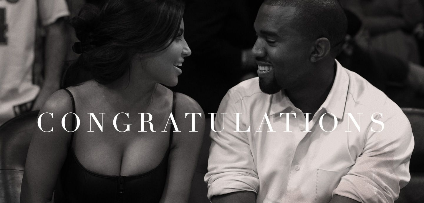 Beyoncé made Kanye and Kim a page on her website as a way of congratulating the new parents