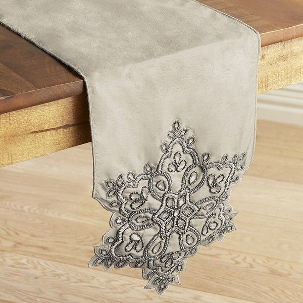 Pier 1 Imports Frosted Snowflake 108 Table Runner 48 Liked On Polyvore Featuring Home Kitchen Dining Linens Ivory
