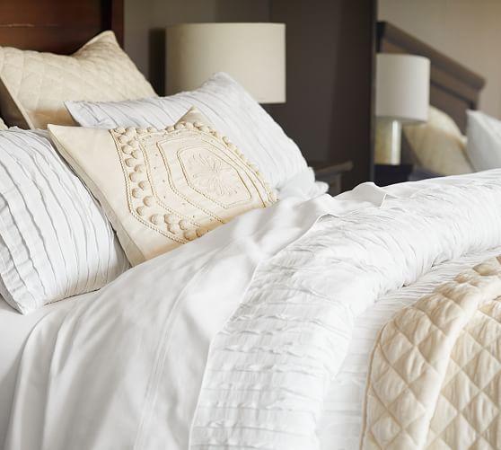 Camille Duvet Cover Amp Sham Potterybarn Pottery Barn Duvet Cover Duvet Covers White Bedroom Decor