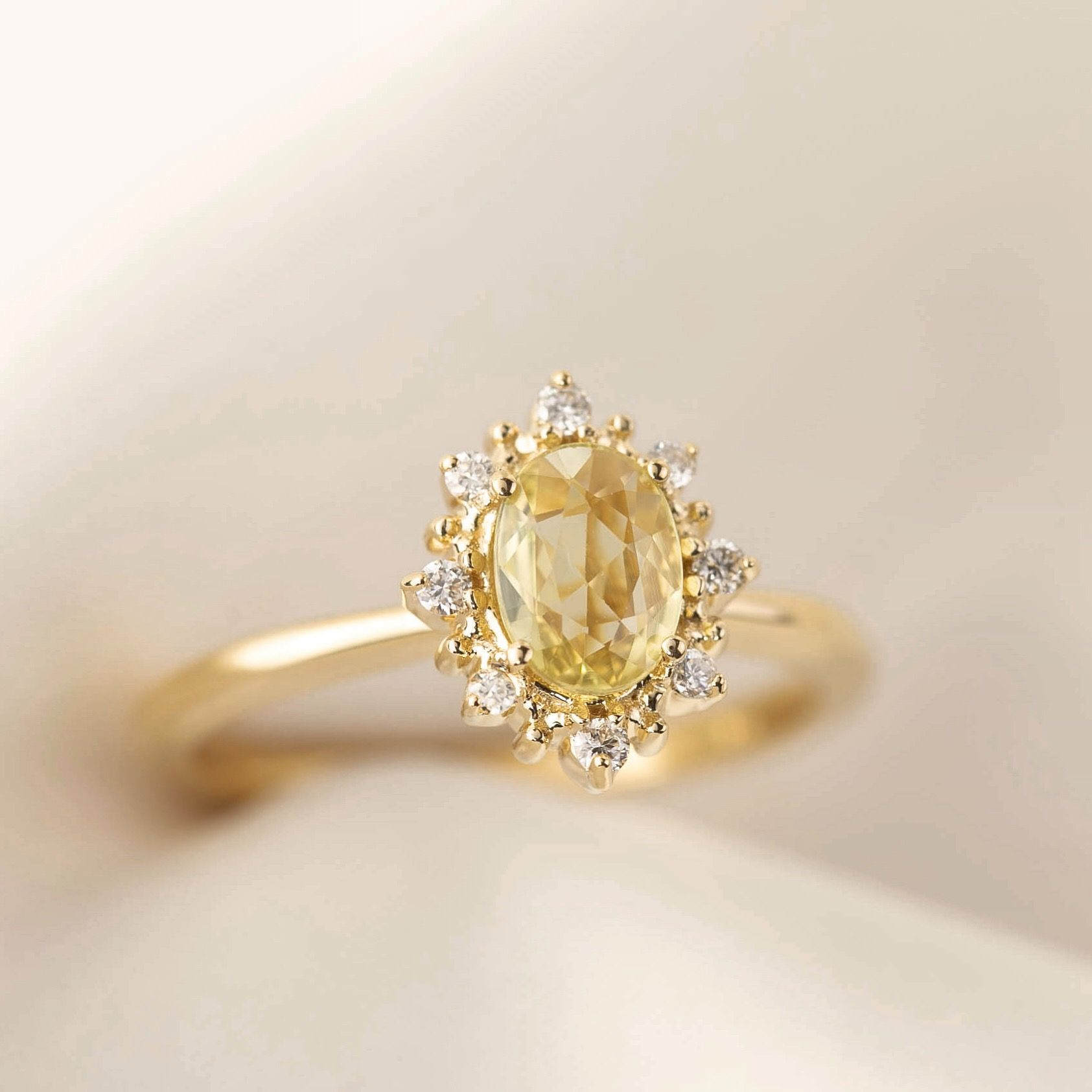 Victoria Ring Yellow Sapphire Yellow Sapphire Ring Engagement Engagement Rings Sapphire Morganite Engagement Ring Set