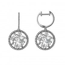 James Free White Topaz and Diamond Earrings