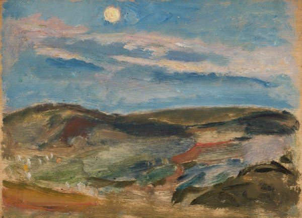 Wzgórze oświetlone księżycem - Tadeusz Makowski
