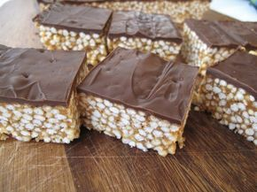Peanut Butter-Honey-Millet Bars--kind of like rice krispies treats but with actual nutrition--and chocolate!