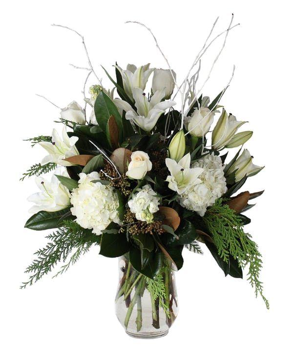 Wintery Opulence Winter Flower Arrangements Beautiful Bouquet Of Flowers Faux Flower Arrangements