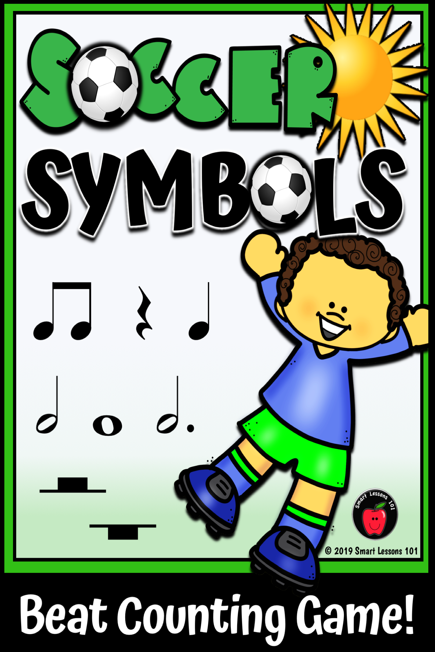 Soccer Symbols Note Value Music Game Rhythm Symbol Music