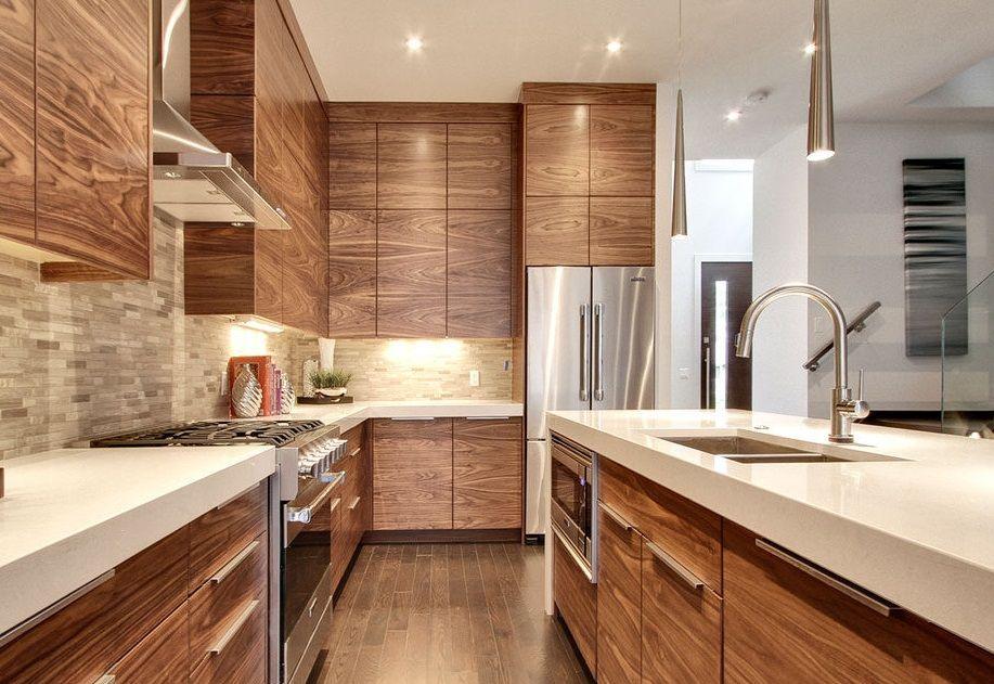 Methods Of Wood Veneer Matching Modern Wooden Kitchen Kitchen Design Stylish Kitchen Design