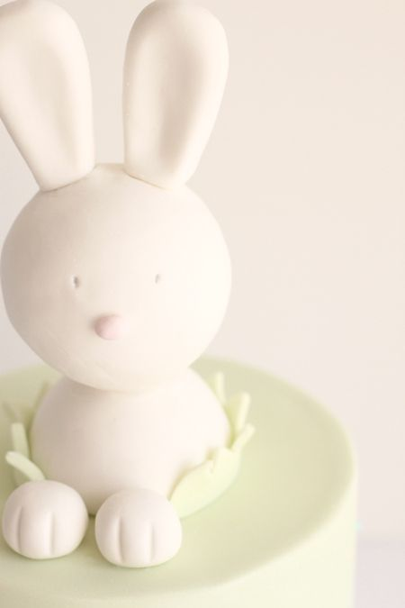 cute bunny baby shower cake!