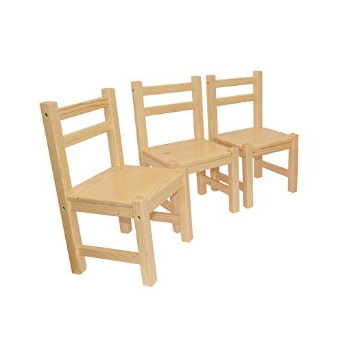 Childrenu0027s Furniture Solid Pine Wood Set Of 3, Three Chairs Natural  Varnished Obique Http: