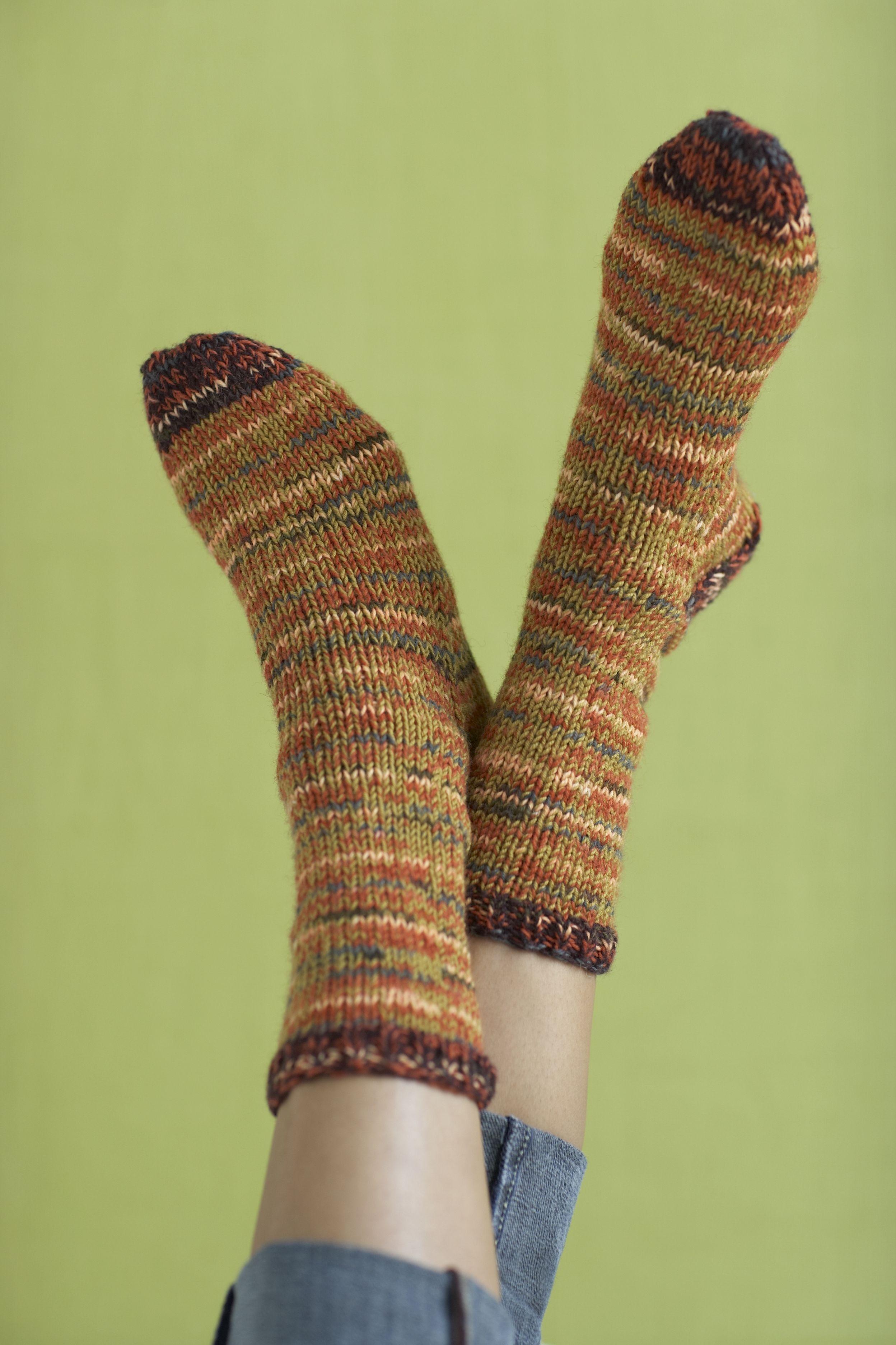 Boot Socks Pattern (Knit) Free, size 6 needles | Knitting ...