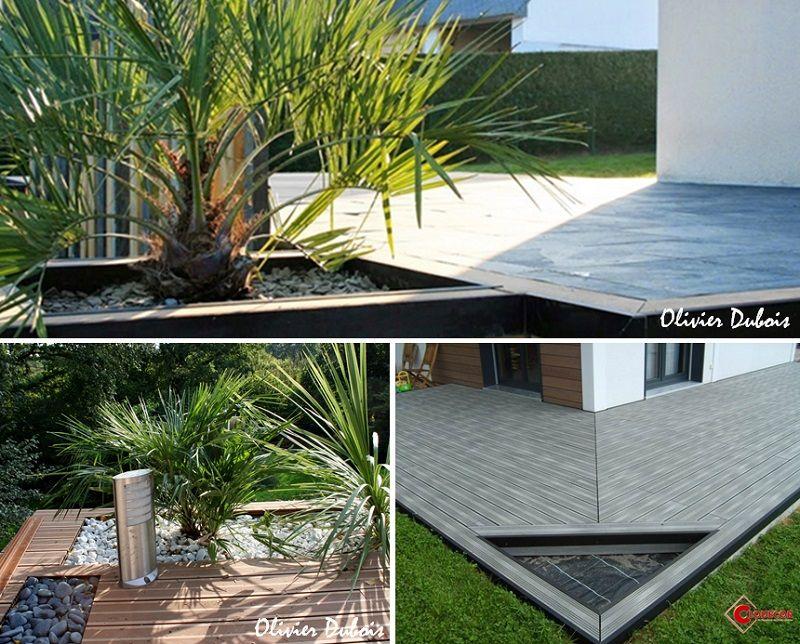 Incruster des jardinieres aux angles de la terrasse composite ...