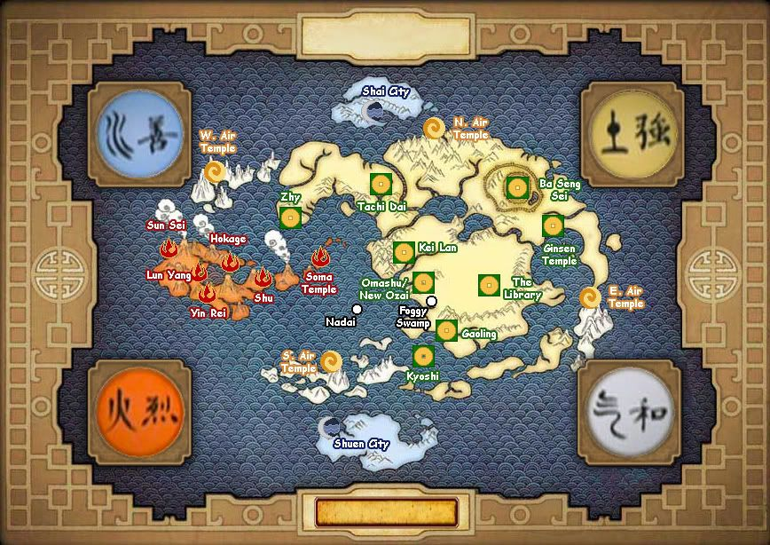 Avatar the Last Airbender Map | Fantasy Maps | Avatar the last ...