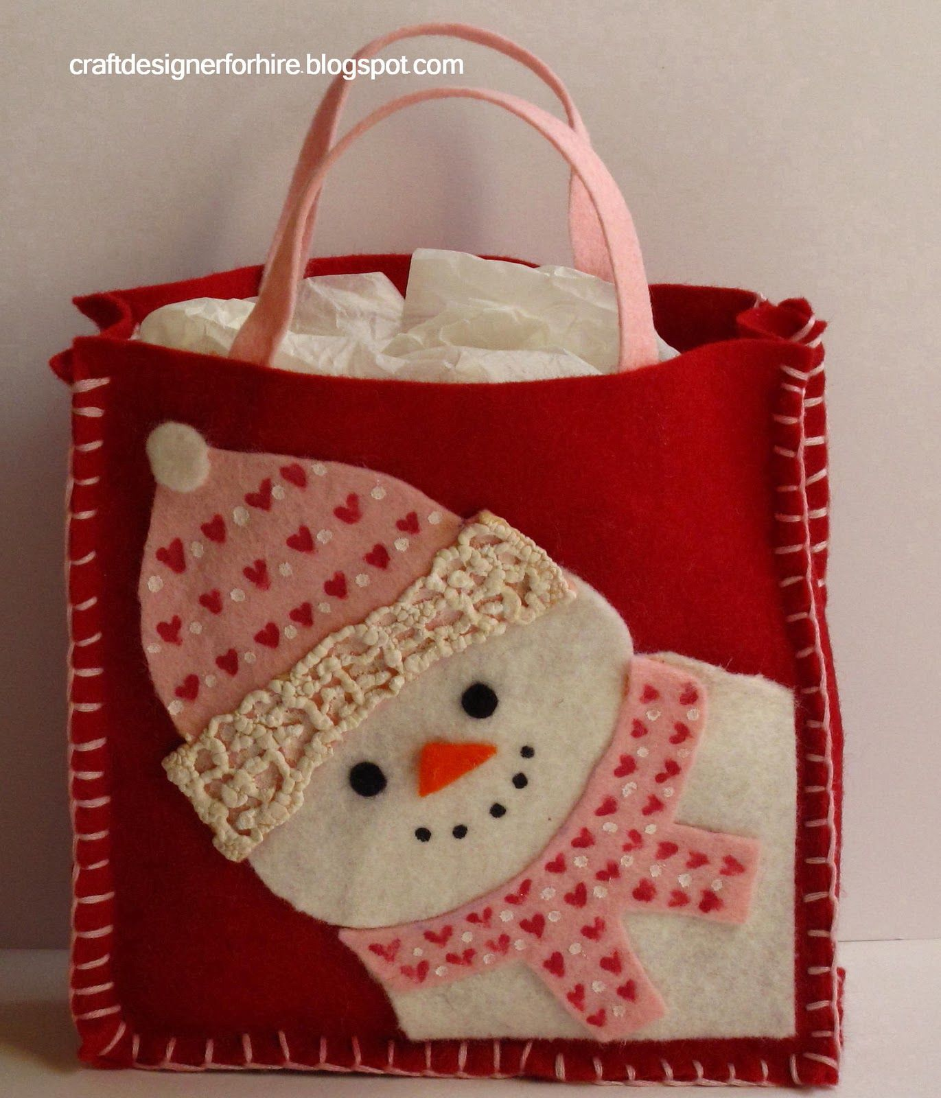 Craft Designer For Hire Free Snowman Gift Bag Project From Craft  ~ Como Envolver Un Bolso Para Regalo