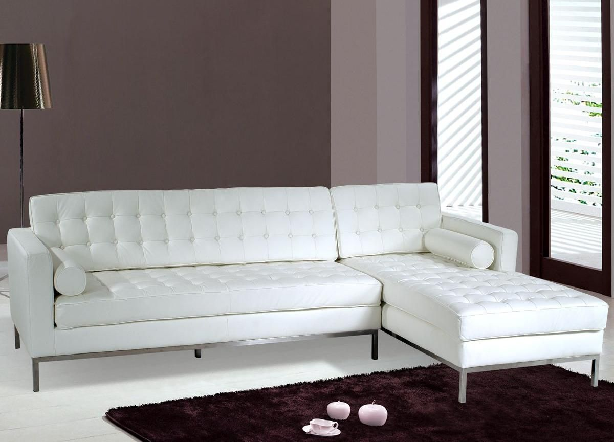 Pleasant Tosh Furniture Modern White Leather Sectional Sofa Nolan Caraccident5 Cool Chair Designs And Ideas Caraccident5Info