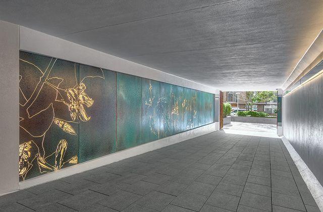 Feature Walls Axolotl Feature Wall Ceiling Light Design Copper Wall Art