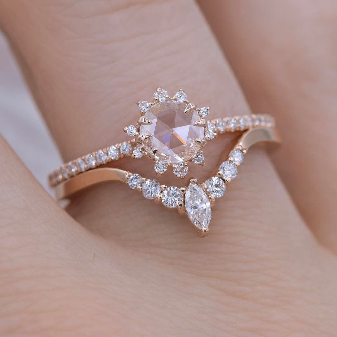 A Beautifully Crafted Band Made For Stacking This Ring Features Solid 14K Rose Gold Adorned