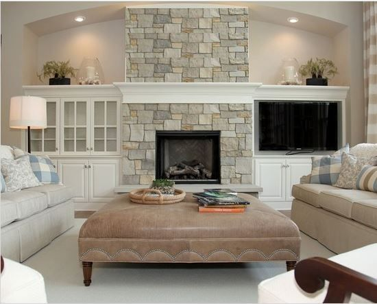 tv next to fireplace cathedral ceiling - Google Search | Family ...