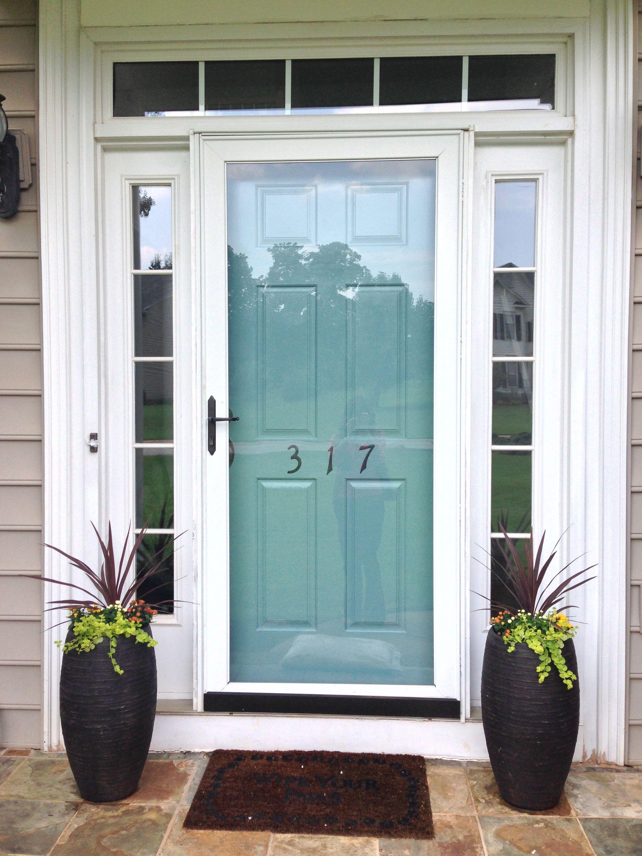 Valspar Turquoise Spray Paint The Door Was Black I Used Valsparwillow Juniper And Spray