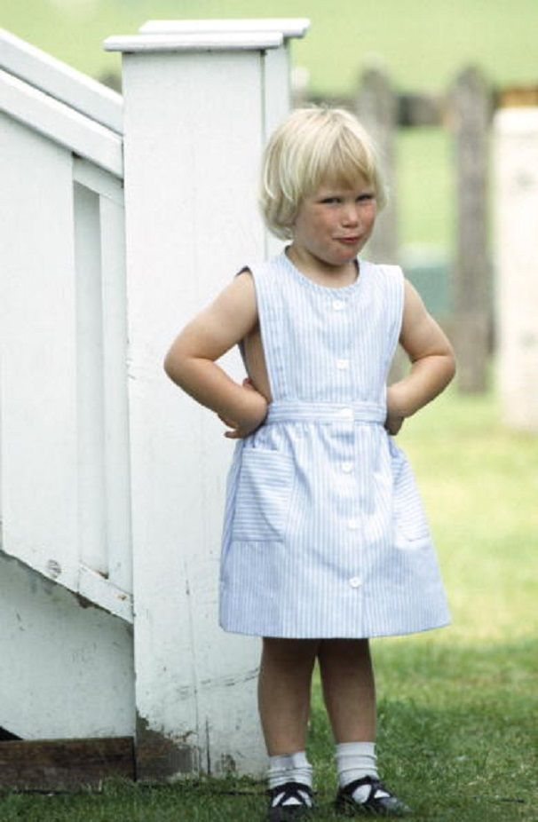Zara Phillips Age 3 With Her Hands On Her Hips And In ...
